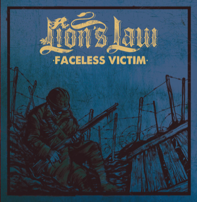 "Lion's Law ""Faceless Victim"" (Blue artwork)"