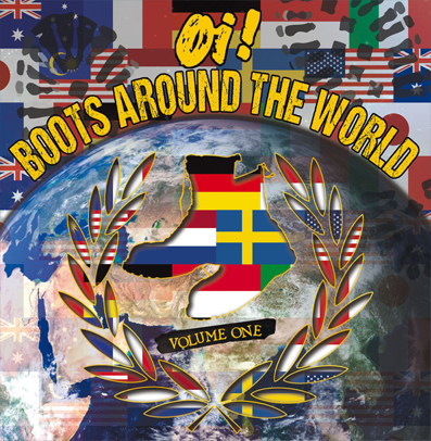 "VV.AA. ""Oi! boots around the world vol.1""Red/blue/white vinyl)"